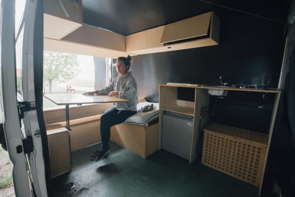 Der alte Ausbau unseres Campers