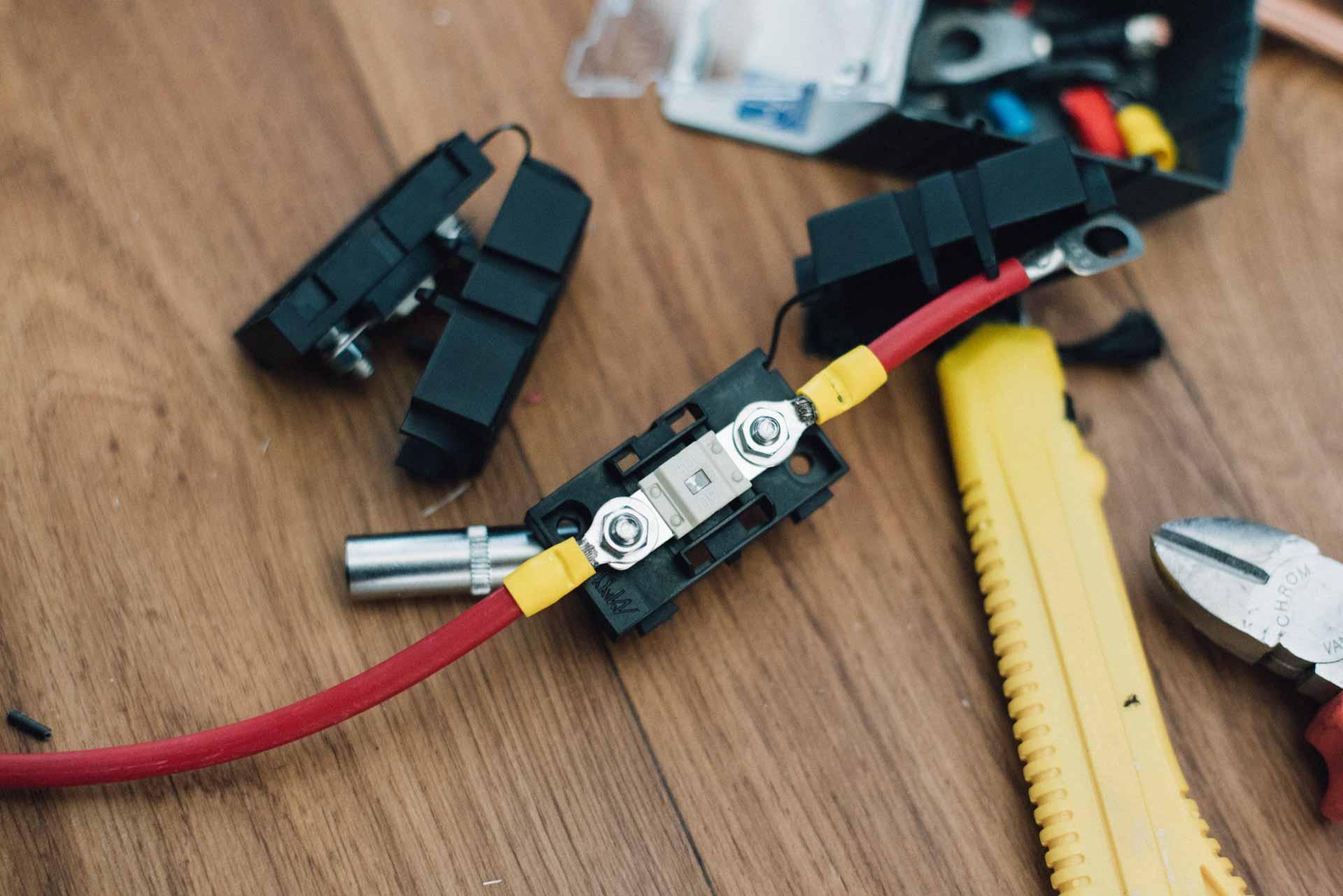 Camper elektrik installation Sicherung