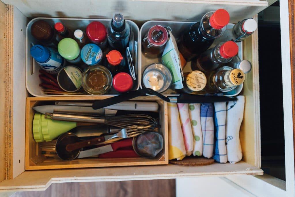 Schublade für Gewürze, Besteck und vieles mehr