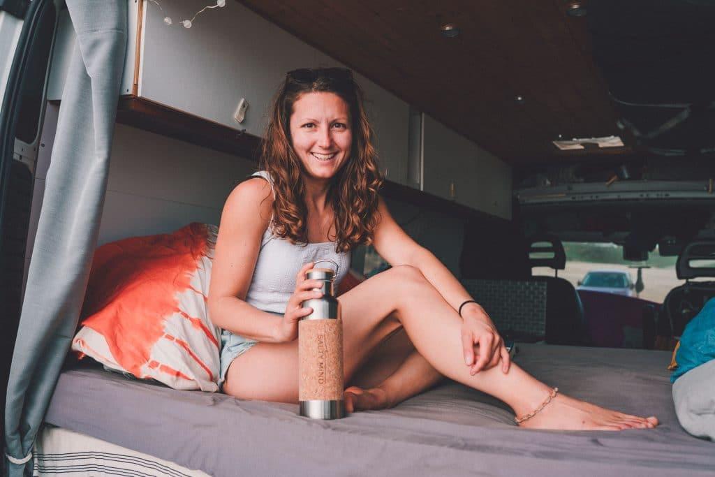 Edelstahl Trinkflasche Camping Wasserflasche Wohnwagen