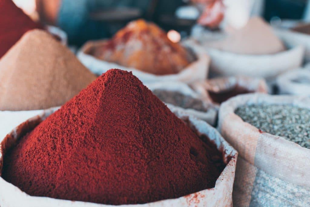 Gewürze in Marokko Paprika