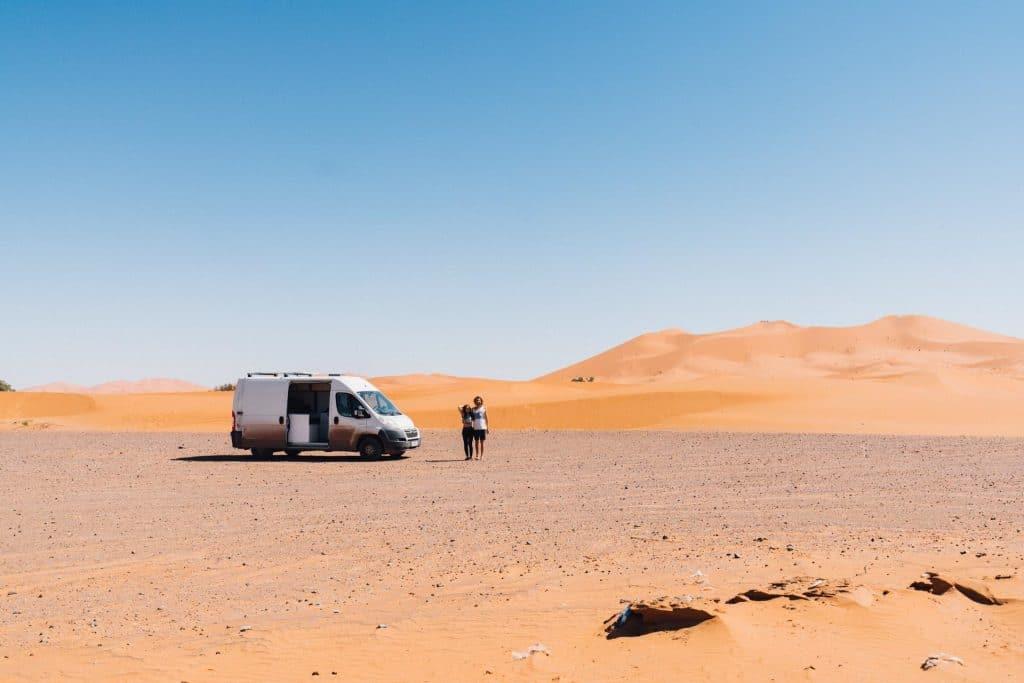 Citroen Jumper L2H2 in Merzouga Wüste Marokko