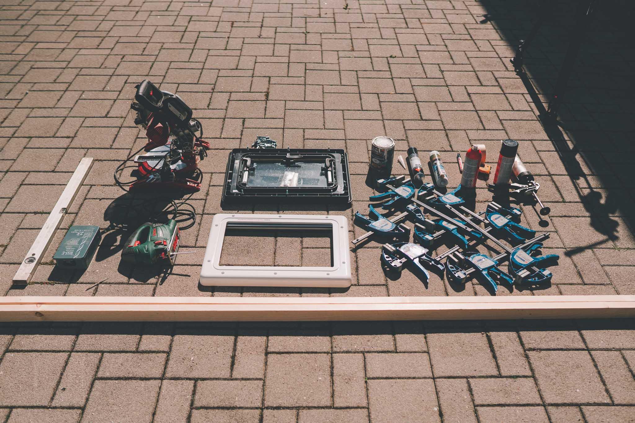 Kastenwagen Fenster einbauen Liste was du benötigst