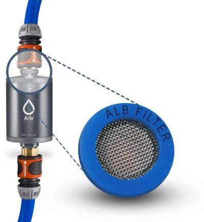 Alb Filter MOBIL Active Trinkwasserfilter mit Gardena Anschluss-Set, silber