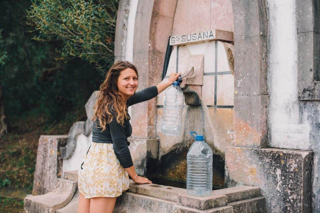 Trinkwasser auffüllen Quelle Portugal