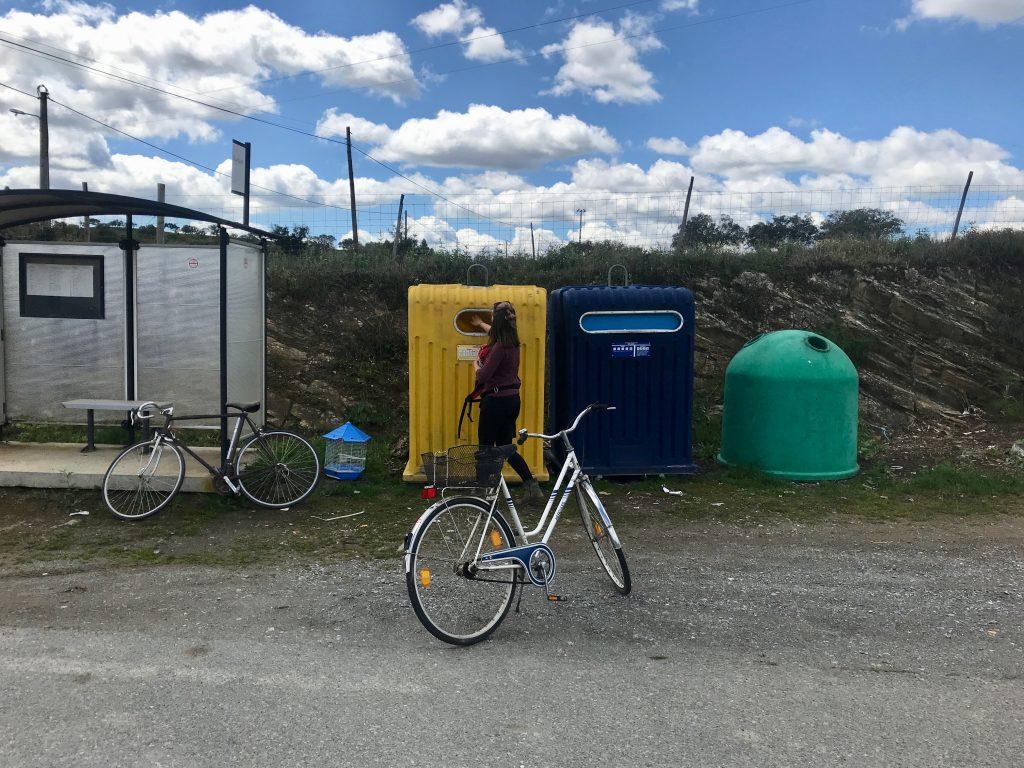 Recyclen, Upcyclen, Müll vermeiden - mit dem Fahhrad zum Mülltrennen