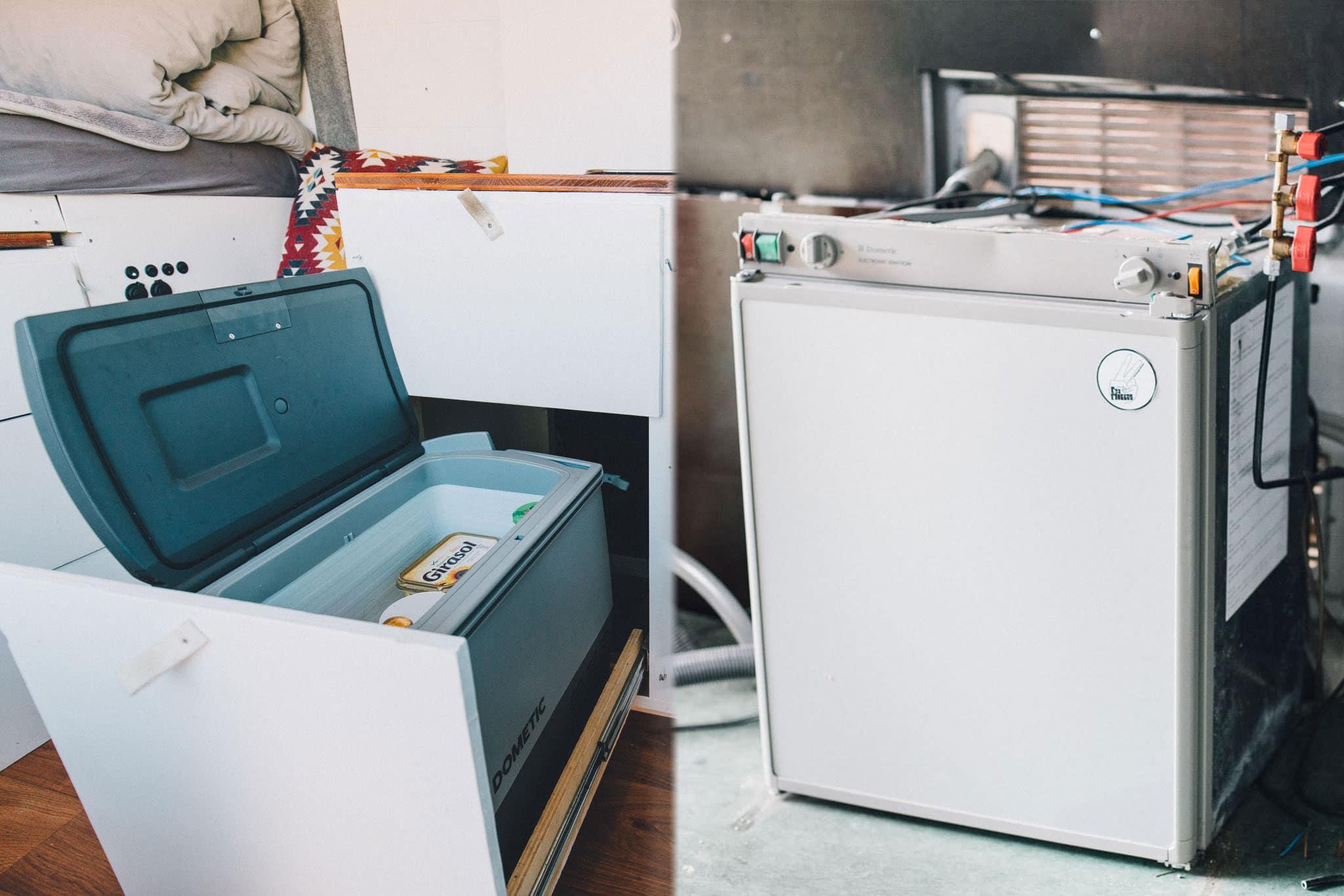 Camper van kompressor kühlbox oder absorber kühlschrank