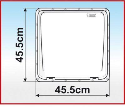 Dachhaube Fiamma Turbo-Vent, 40x40cm, 12V, crystal