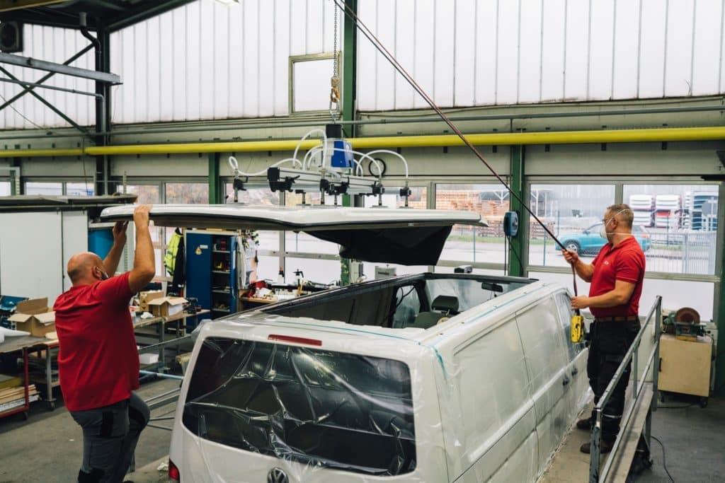 Aufstelldach nachrüsten SCA VW T5 Bus