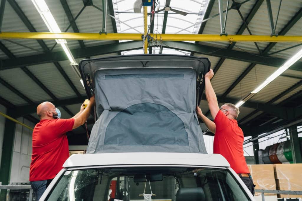 Aufstelldach VW Bus Camper Nachrüsten SCA Dach