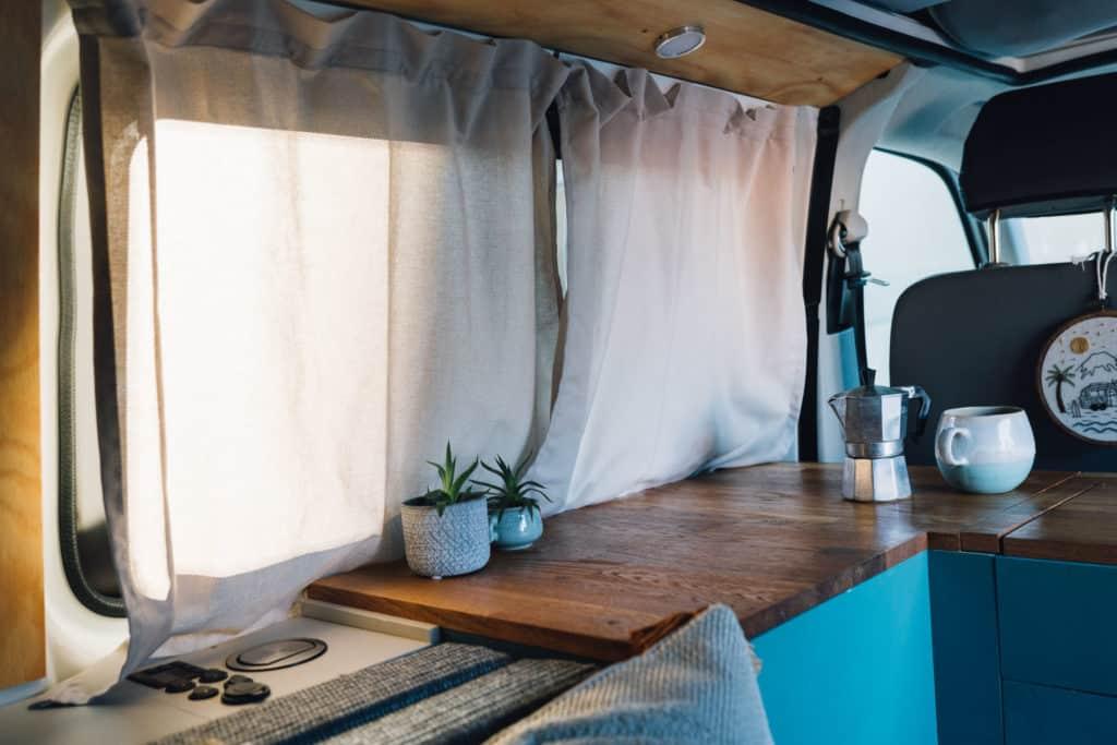 IKEA Gardine Schiebevorhang VW Bus T5 Camper