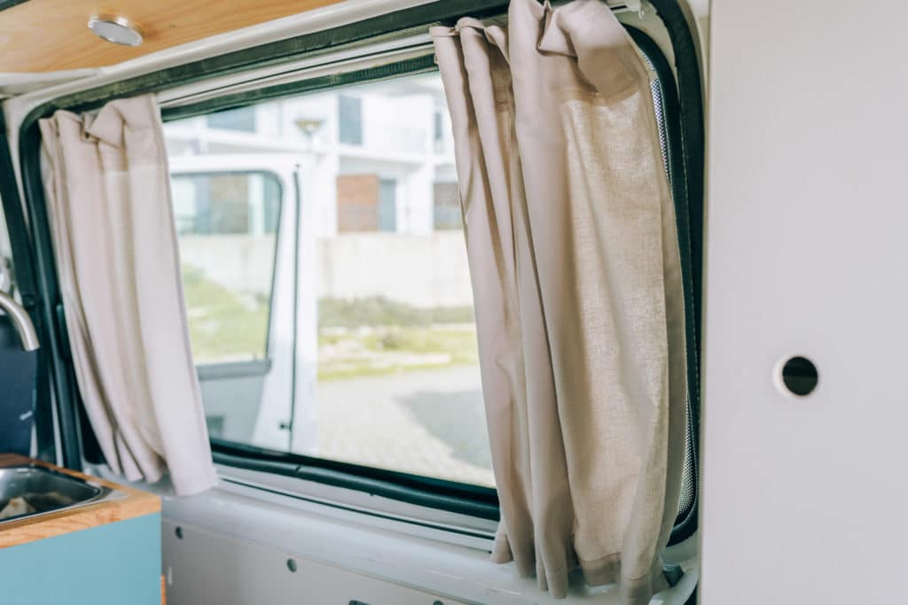 VW T5 Camper Gardine Vorhang