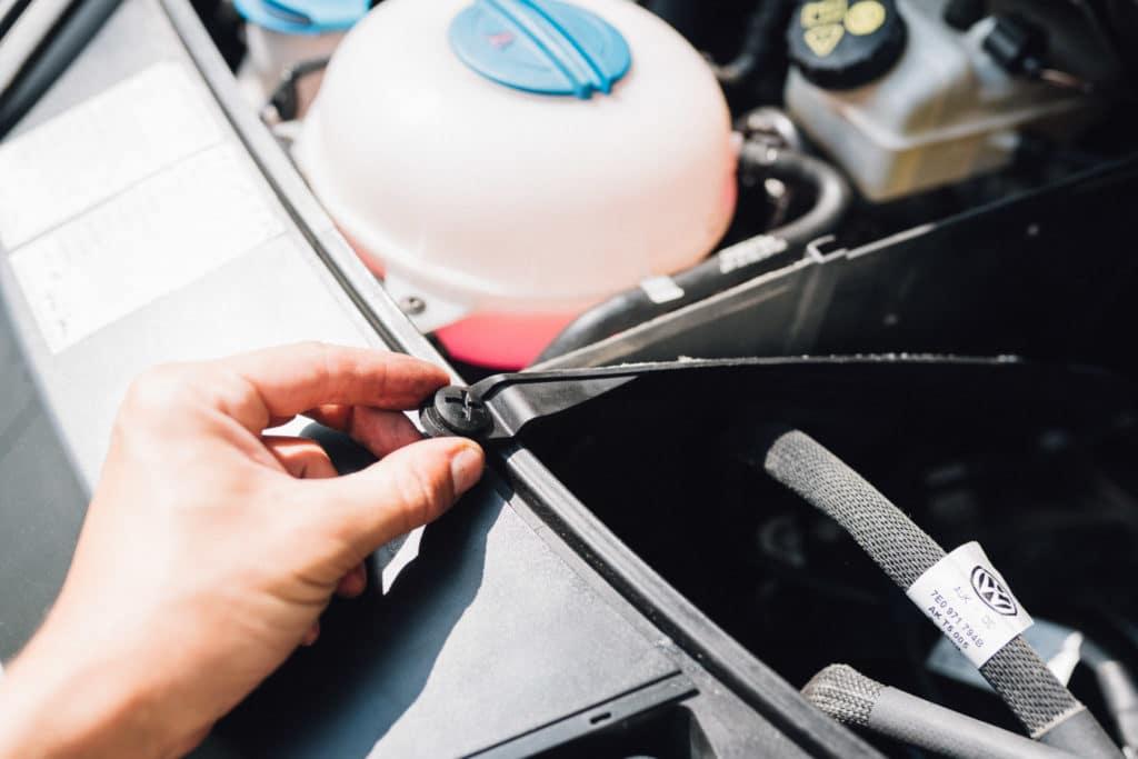 Wärmeschutz Motorraum
