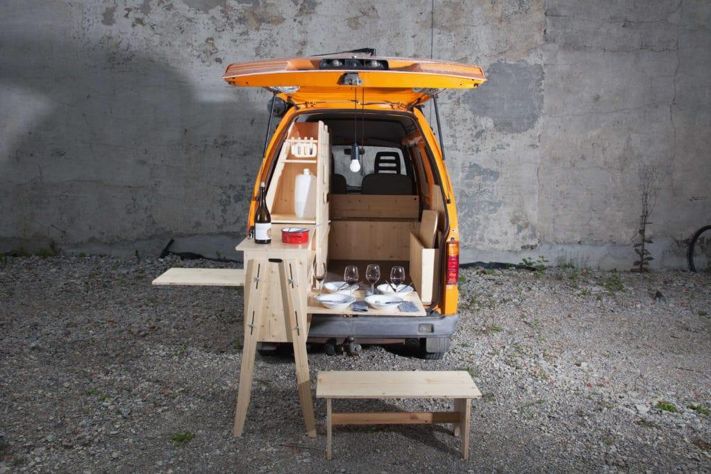 Piaggio Porter Minibus-Wunder perfekt geplant