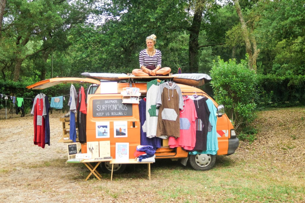 piaggio porter minivan reise surfponchos verkauf