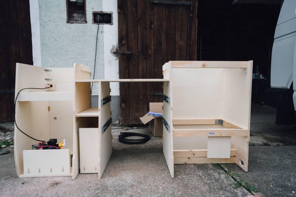 Vanlife Camper Küche selbst bauen Anleitung