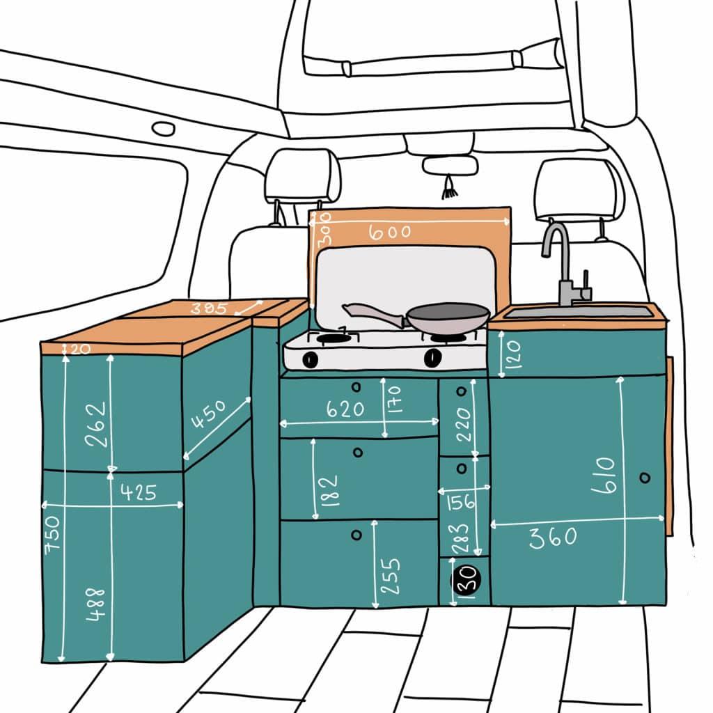 VW T5 Küche Maße Anleitung