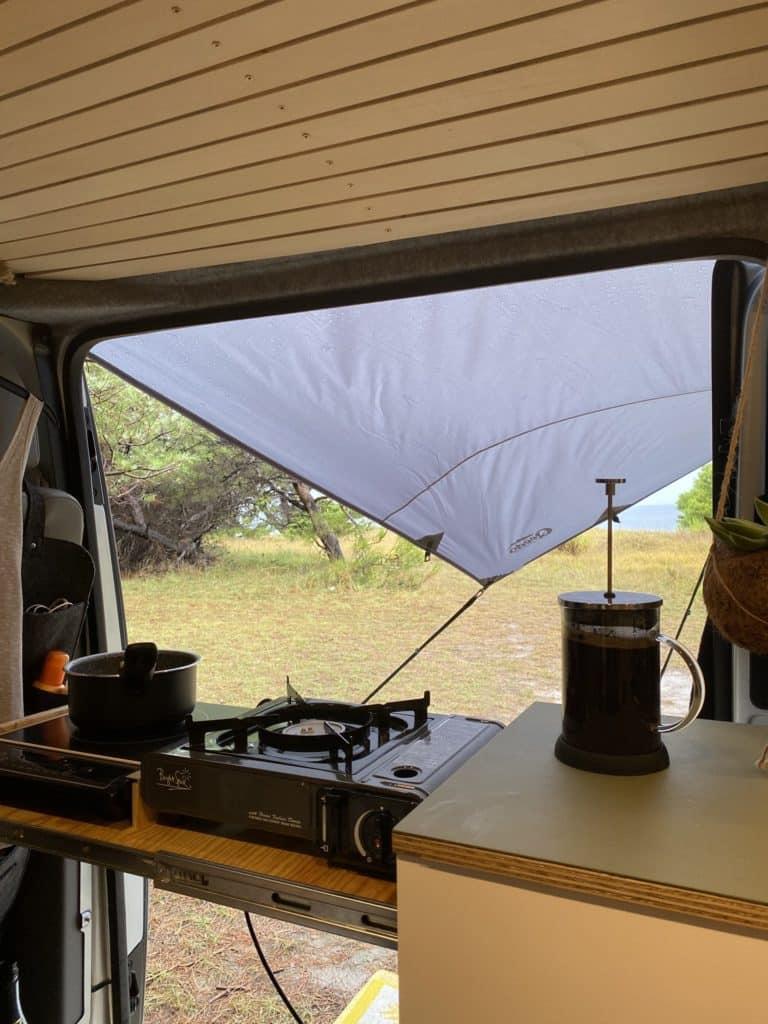 Camper Küche einflammiger Kocher Induktionskocher