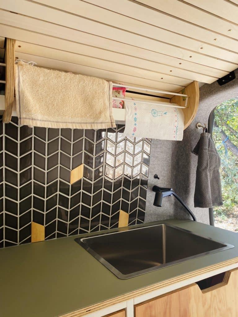 VW Camper Küche mobiler Duschkopf