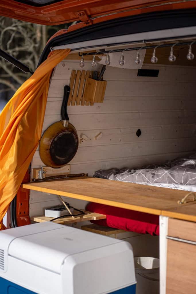 t4 heck camper küche kühlbox ausziehbar