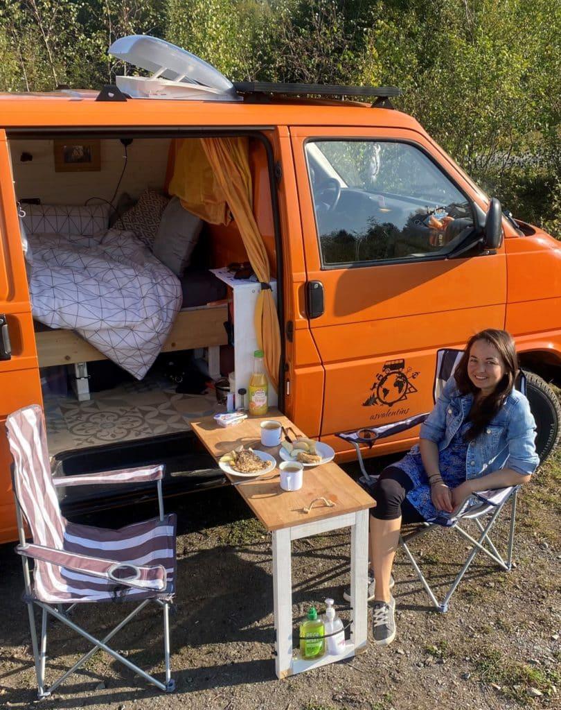 VW T4 Küche multifunktional draußen essen