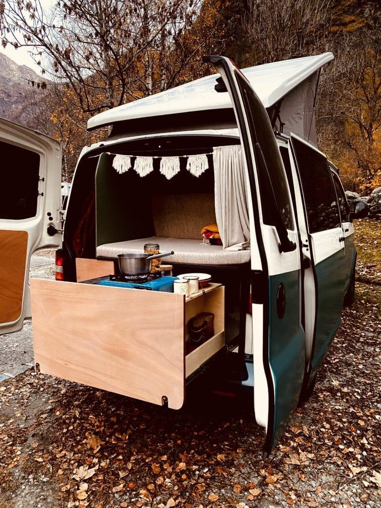 VW T5 Heckauszug Küche